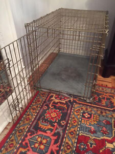 PET DOG CRATE CAGE LARGE STRONG HEAVY METAL