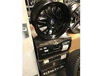 "4 18"" KLUTCH alloy wheels Alloys Rims tyre tyres 5x100 Vw Volkswagen Seat Skoda audi"