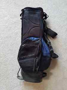 TaylorMade standing golf bag, lots of pockets.