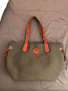 Dooney and Bourke Tote Bag Olive Green Water Resistant