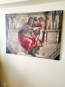 LARGE MICHAEL ANGELO PAINTING