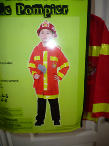 Fireman Costume New Size small 4-6