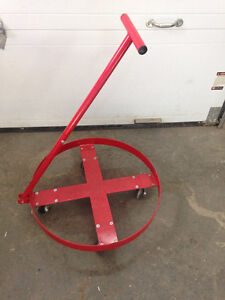"""45 gallon drum cart on 4"""" casters"""