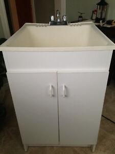 Laundry sink, Danze taps and cupboard