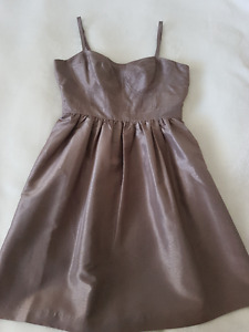 Bridesmaid or Grad Dress - Beige/Taupe - Size 8