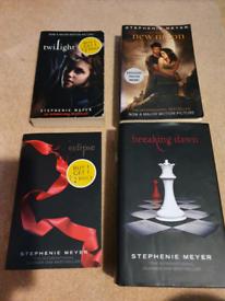 Twilight saga books with new moon poster