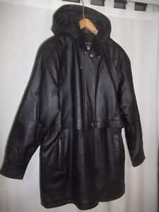 Leather Coat (never used) London Ontario image 1