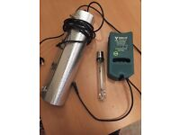Hydroponic Growing Equipment USED 600w HPS Light Kit - With Ballast Bulb & Shade