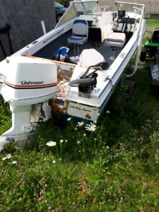 16 ft boat with 150 hp motor