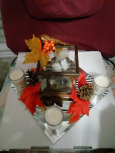 Centerpieces and mirror plates for wedding or home decor