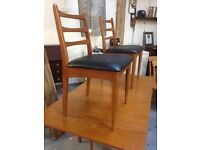 Stunning Schreiber Dining table and four chairs with sideboard mid century iconic