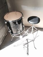 Drum and chair