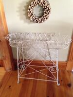 Antique wire plant stand