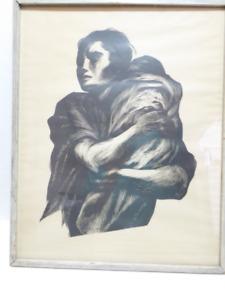 "VINTAGE CIRCA 1952 ""WOMAN & CHILD"" LITHOGRAPH BY ANDREA GOMEZ"
