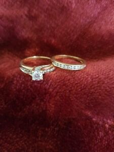 1 Carat Yellow Gold Engagement Ring, Band, and Protection Plan