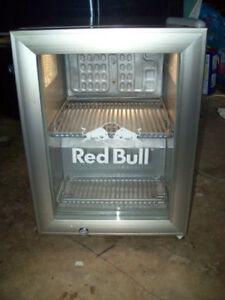 Red Bull stainless steel mini fridge
