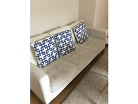 White leather sofa chesterfield modern style