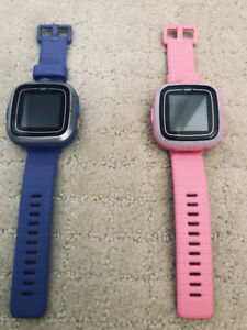 VTech watches-blue and pink