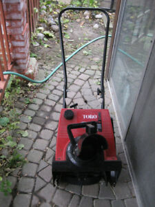 Small 2 Stroke Toro Powerlite 3HP Gas Snowblower Works Good
