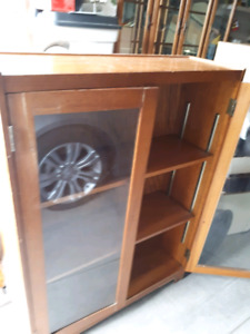 Solid oak display  or bookcase