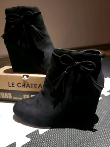 La Chateau Wedge ankle booties