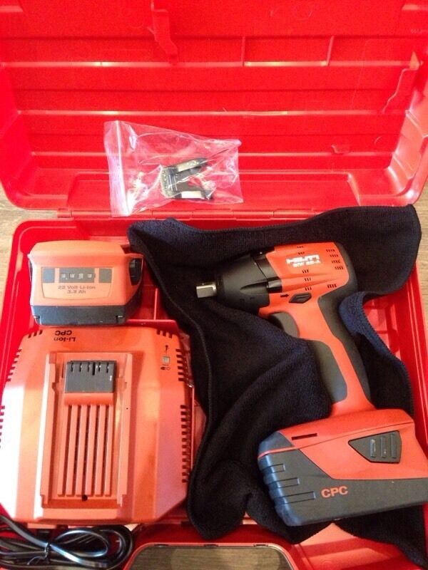 new hilti siw 22 a impact wrench 2 x 22v 3 3ah. Black Bedroom Furniture Sets. Home Design Ideas
