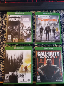 Various used xbox one games
