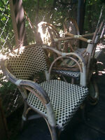 6 Free wicker Chairs & 4 Patio tables