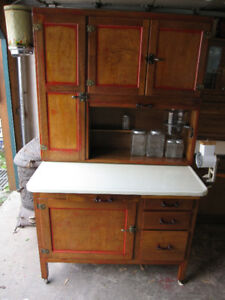 HOOSIER CABINET WITH LOTS OF ACCESSORIES LOADED