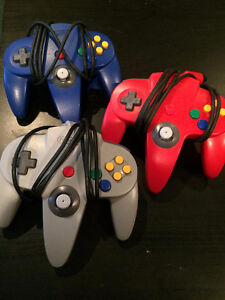 Nintendo 64 (N64) Controllers / Manettes