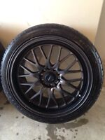 """Almost new Fast Europa 18"""" with tires 5x114.3"""