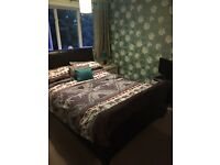 Faux leather bed and memory foam mattess