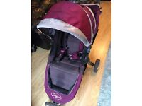 Baby Jogger City Mini with raincover