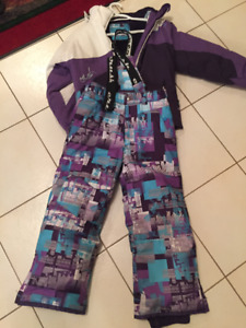 Crush girls snowsuits 2 piece size 8