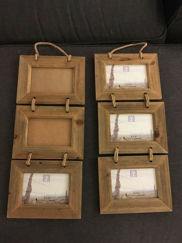 Wooden hanging photo frame x 2