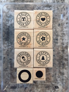 STAMP Awesome Cards/Gift Tags Now using RIVETING 2-step stamps