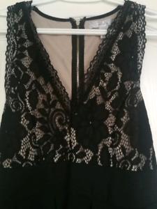 Womens Black Lace Dress (L)