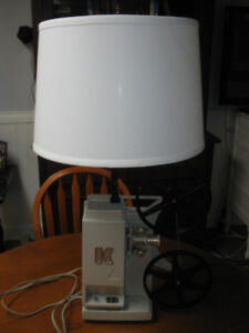 KEYSTONE MOVIE PROJECTOR REPURPOSED INTO TABLE LAMP REDUCED