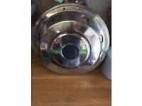 4 x stainless wheel trims to fit 7.5 ton lorry