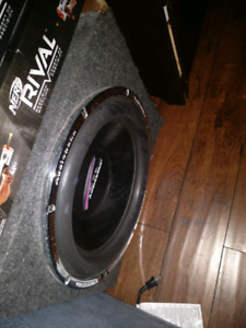RARE subwoofer and amp combo.
