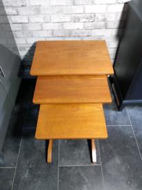 Nathan Citadel Nest of tables vintage retro MCM