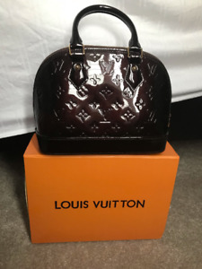 Louis Vuitton Alma BB  Monogram Vernis Leather