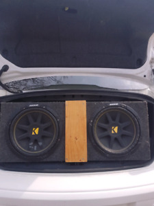 Two 12 inch kicker comps