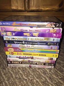 12 children's DVD movies