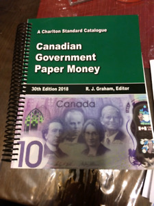 Canadian government paper money book