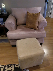 Chair with small matching ottoman