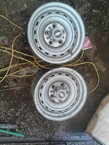 2 x 7 inch chev ralley rims good condition