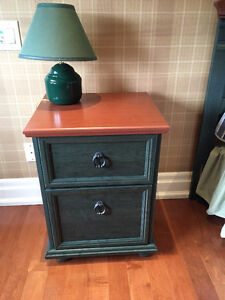 Green Wooden Night Table in excellent condition