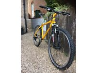 Orange gringo mountain bike