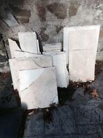 Scrap pieces travertine tile